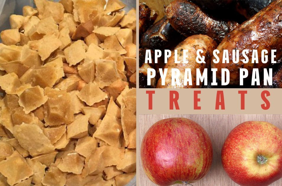 apple sausage pyramid pan treats